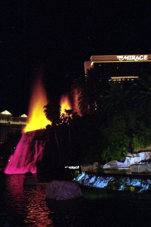 Mirage Fountain Fire